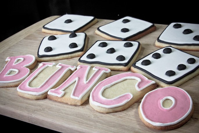bunco and martini cookies